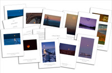 The Folio by photographer Richard Mack presents twelve fine art prints of the moon from around the world.