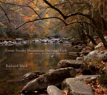 Photography by Richard Mack  Foreword by Steve Kemp, Interpreter, Great Smoky Mountains Association  After thirty years of training his camera on the beauty in Great Smoky Mountains National Park photographer Richard Mack has assembled his images into a collection of exquisite images. This book showcases the park's various sections and includes text by the park interpreter about each area. These images also trace some of the changes in the park which have occurred over the last thirty years. This is a great addition to anyone's library, but especially this year - the 75th Anniversary of the park. For more see it in the book section of our shop. Click on the cover image to go direct or use the Shop link above.  Winner of multiple awards including the 2011 International Book Award for Photography - Nature!