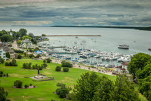 Mackinac Island, Michigan. Summer on the island is for tourist and no cars! Beautiful place to get away from it all.  Part of the documentary The Sweetwater Seas / Great Lakes Collection. Fine art print on archival paper ready for framing or on an archival canvas wrap printed to the exacting standards of the artist.