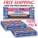 PRICE MARKED Coconut Bars                  TWO  24 count trays