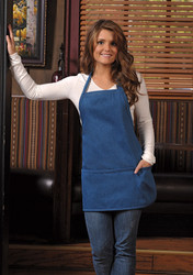 Denim Three Pocket Bib Apron #200DN