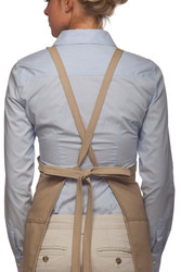 Criss Cross 3-Pocket Bib Apron