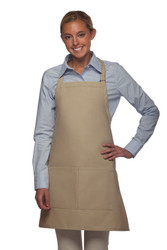 Bib Apron (Center-Div Pocket)