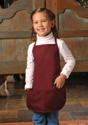 Children's 2-Pocket Bib Apron-XL