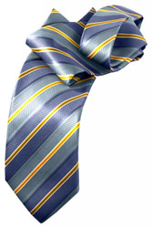 Stripe Print Long Tie
