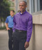 Lightweight Poplin Shirt-Purple