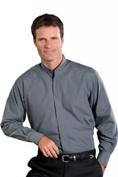 Men's Banded Collar Shirt