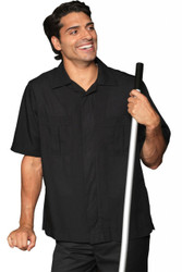 Men's Black Poly Service Shirt
