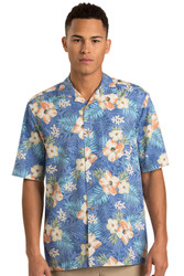 Tropical style camp shirt