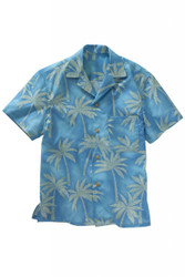 Tropical Palm Print Camp Shirt