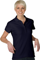 Women's SS Plaited Performance Polo