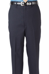 Men's Poly/Wool Pinstripe Flat Pants