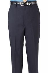 Men's Poly/Wool Pinstripe Flat Pants