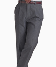 Men's Pleated Washable Poly/Wool Pants