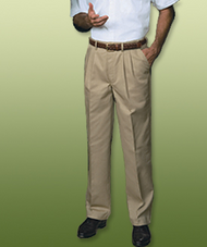 Men's Easy-Fit Pleated Chino Pants