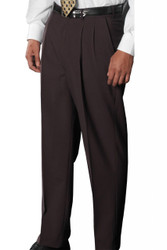 Men's Dress Poly/Wool Pleated Pant