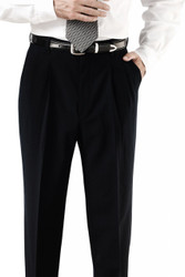 Men's Pleated Poly Pant