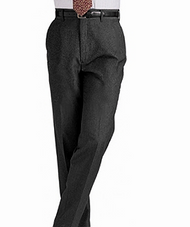 Men's Flat Front Washable Poly/Wool Pants