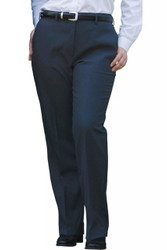 Women's Flat Front Dress Poly/Wool Pant