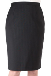 Women's Pinstripe Poly/Wool Straight Skirt
