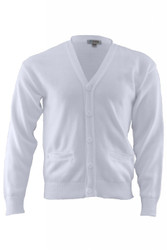 Unisex V-Neck Cardigan (2-Pocket/Acrylic)