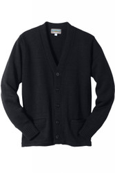 Unisex V-Neck Button Cardigan (Heavy Acrylic)