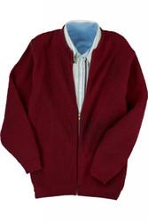 Unisex Full Zip Shaker Cardigan