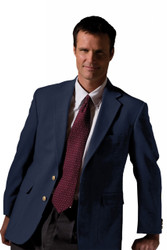 Men's Hopsack Poly/Wool Blazer