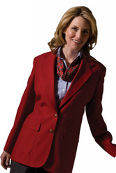 Women's Single Breasted Poly Blazer