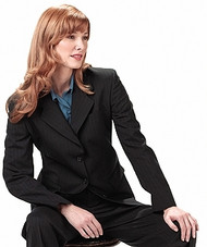 Women's Pinstripe Poly/Wool Suit Coat