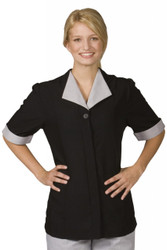 Women's Black Poly Tunic