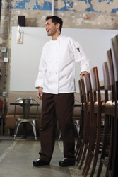 Unisex Knot Mesh Chef Coat