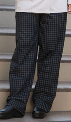 Unisex Yarn-Dyed Baggy Chef Pant