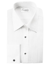 Tuxedo Cotton Shirt with Laydown collar