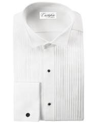 Cotton Formal Shirt in Wingtip Pleated