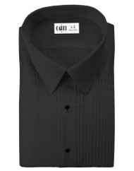 "Microfiber Black Formal Shirt (Laydown, 1/4"" Pleat)"