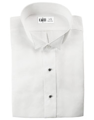 Microfiber White Formal Shirt (Wingtip, No Pleats)