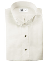 Microfiber Ivory Formal Shirt (Wingtip, No Pleat)