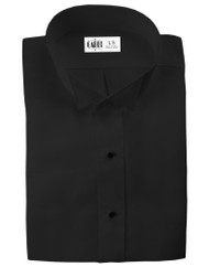 Microfiber Black Formal Shirt (Wingtip, No Pleat)