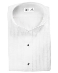 "Microfiber White Formal Shirt (Wingtip, 1/4"" Pleats)"