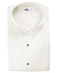 "Microfiber Ivory Formal Shirt (Wingtip, 1/4"" Pleat)"