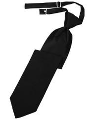 Solid Satin Long Tie (Pre-Tied)