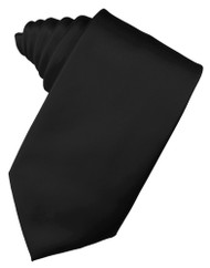 Solid Satin Long Tie (Self-Tie)