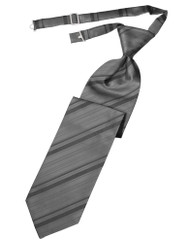 Striped Satin Long Tie