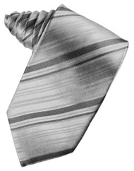 Striped Silk Long Tie (Self-Tie)