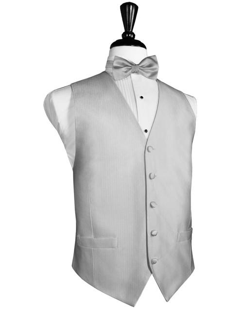 Silver Silk Faille Vest