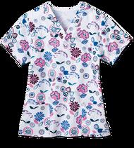 Ladies Two Pocket Scrub Top