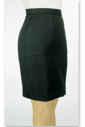 Above-the-Knee Tuxedo Skirt