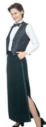 Floor-Length Tuxedo Skirt