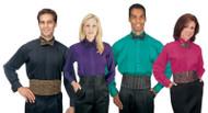 Unisex SS Colored Tuxedo Shirt
